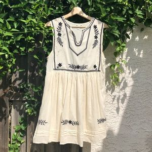 Forever 21 embroidered babydoll dress